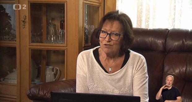 Marta Kubišová natáčí pořad Chcete mě? u sebe doma