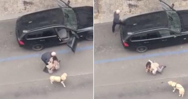 Pražský taxikář neurvale vyhodil z auta nevidomou ženu, vadil mu její pes.