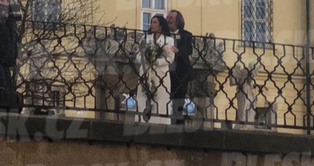 Utajená svatba Bolka Polívky v Brně.