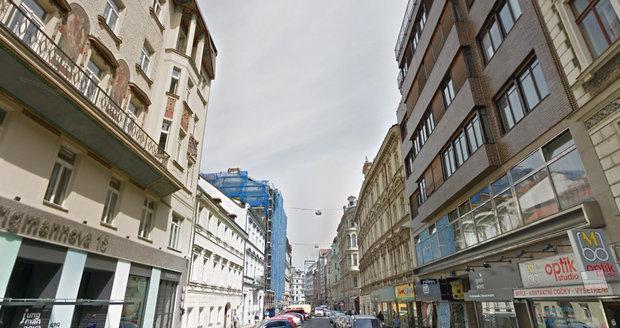 Jungmannova ulice v centru Prahy.