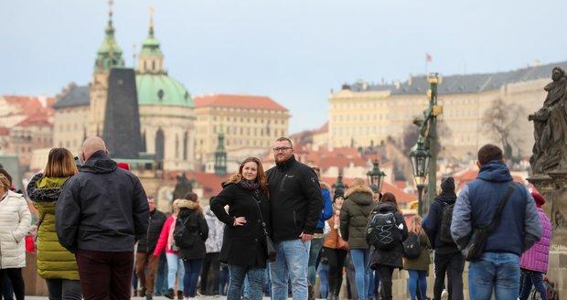 V Praze to už vypadá na jaro, ale příští týden má ještě sněžit. (26.2.2020)