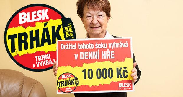 Ludmila Merglová se těší z trhákové výhry.