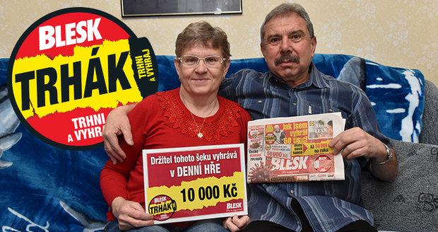 Jarmila a Zdeněk Dokoupilovi z Vrbátek jsou věrnými čtenáři Blesku a pravidelnými hráči Trháku.