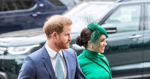 Princ Harry a Meghan na bohoslužbě při příležitosti Dne Commonwealthu ve Westminsterském opatství.