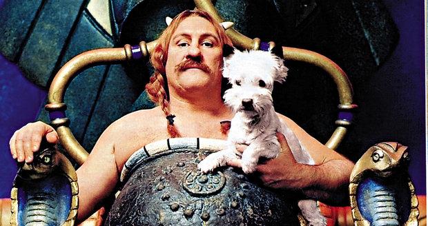Gérard Depardieu jako Obelix