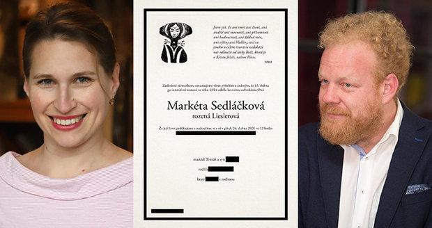 Zemřela socioložka Markéta Sedláčková.