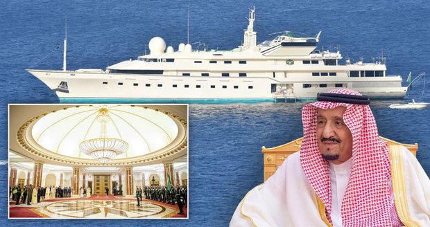 Nejbohatší královská rodina světa: Saúdové se chlubí tryskáči, jachtami a paláci se zlatým nábytkem za 30 bilionů!
