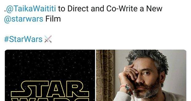 Taika Waititi bude natáčet nový film ze světa Star Wars.