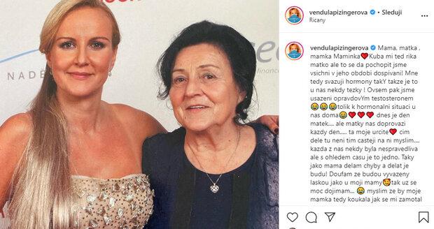 Vendula Pizingerová zavzpomínala na maminku.