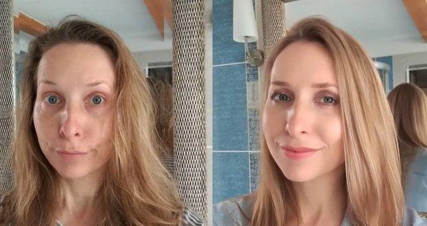 Tereza Bebarová ukázala i svou transformaci: jak vypadá nenalíčená a neupravená.