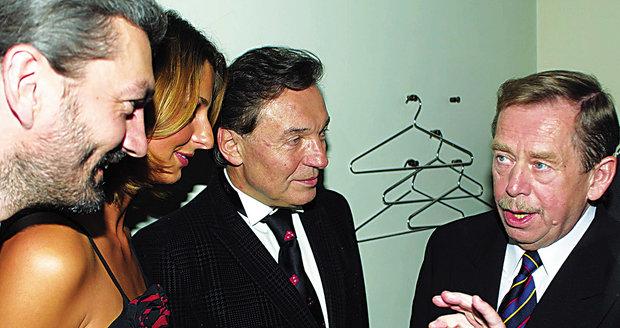 Karel Gott s Václavem Havlem