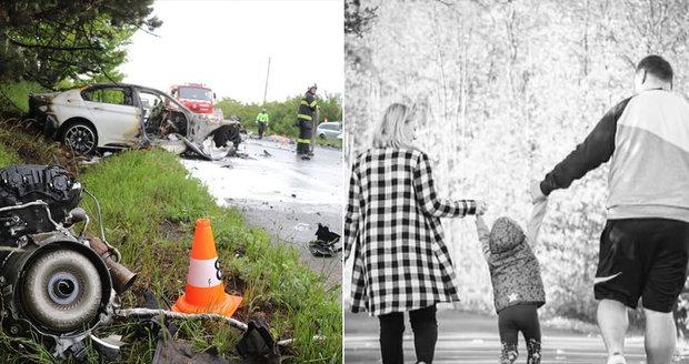 Rodiče malé Viktorky nebyli připoutaní, viník nehody z BMW zemřel: Smrt tří lidí bez trestu