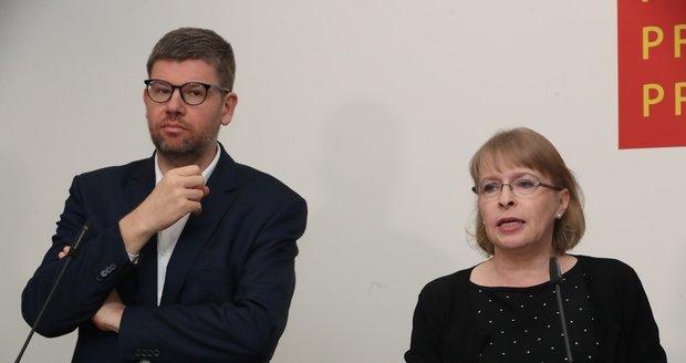 Radní Hana Kordová Marvanová a Jiří Pospíšil ze Spojených sil