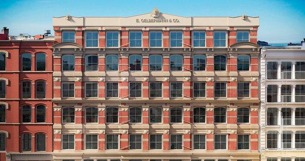 Zrekonstruovaný dům, ve kterém si modelka Bella Hadid pořídila luxusní apartmán.