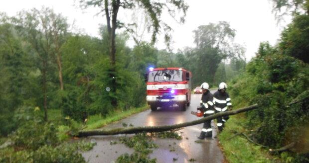 Plné ruce práce kvůli lijákům měli i hasiči v Královéhradeckém kraji (29. 6. 2020)