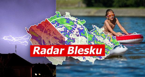 Česko spálí až 33 °C. Tropy utnou silné bouřky, sledujte radar Blesku