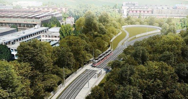 Tak by měla vypadat konečná stanice tramvaje na Stránské skále v Brně.