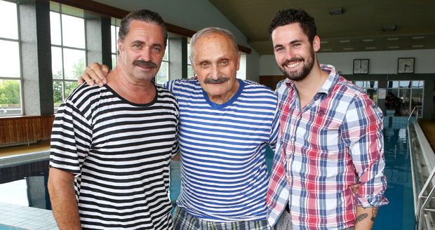 Tři generace Dejdarů: Martin, Vlastimil a Matěj