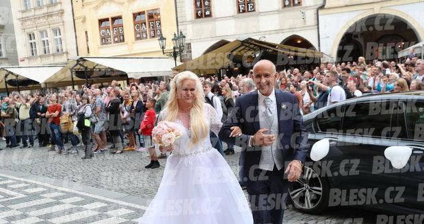 Svatba Moniky Štikové na Staroměstském náměstí v Praze