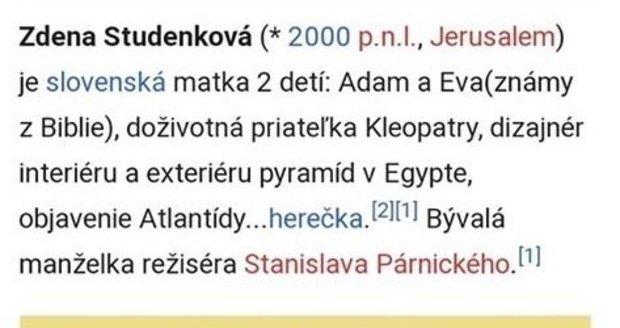 Internetoví vtipálci si drsně vystřelili ze Zdeny Studenkové!