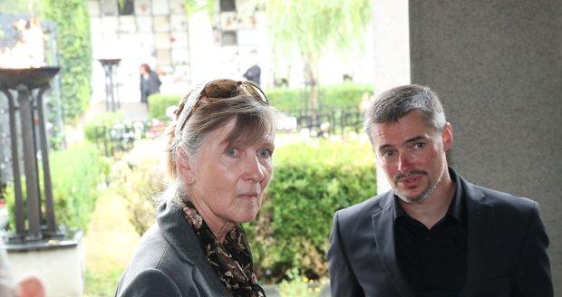 Pohřeb Jana Skopečka: Z Francie dorazila dcera Marie.