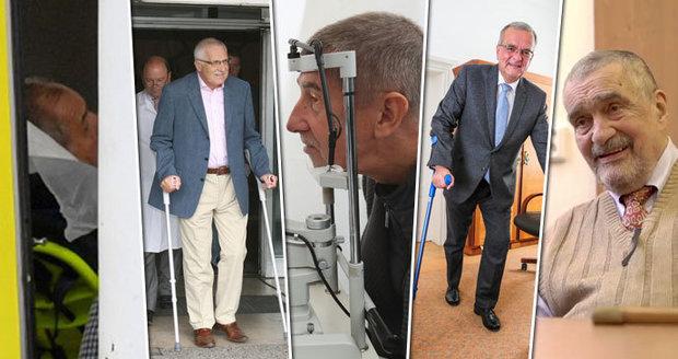Zdravotní trable politiků: Zemanova operace i kolapsy ve Sněmovně. A Babišův děs z rakoviny