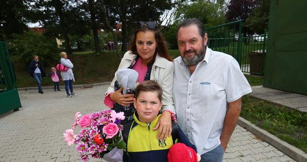 Ornella a Josef Koktovi a jejich malý Quentin