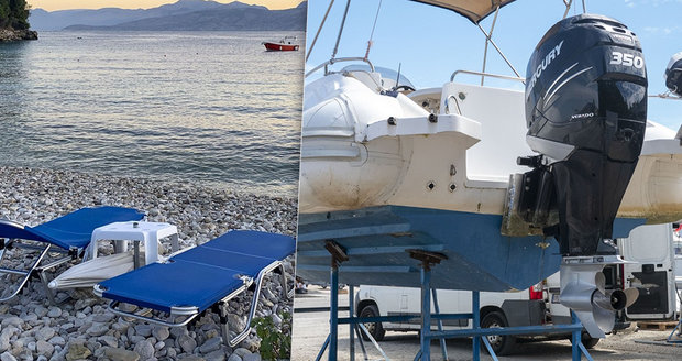 Milionářku na Korfu přejel rychlý motorový člun: Pomoci se nedovolala