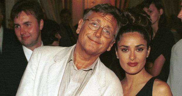 Jiří Menzel v roce 1997 se Salmou Hayek
