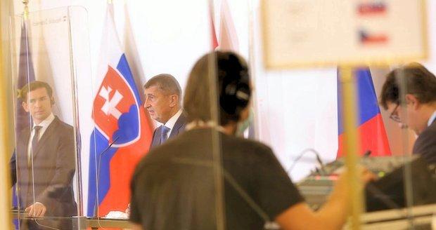 Slováci a Rakušané Čechům hranice nezavřou, uklidňuje Babiš po schůzce ve Vídni