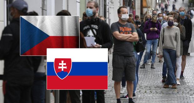 """Česko """"zčervenalo"""" i pro Slováky, budou sledovat mobily. Kdo unikne karanténě či testu?"""