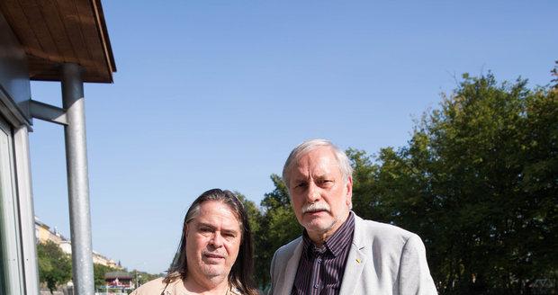 Režisér Zdeněk Zelenka s producentem Oldřichem Lichtenbergem
