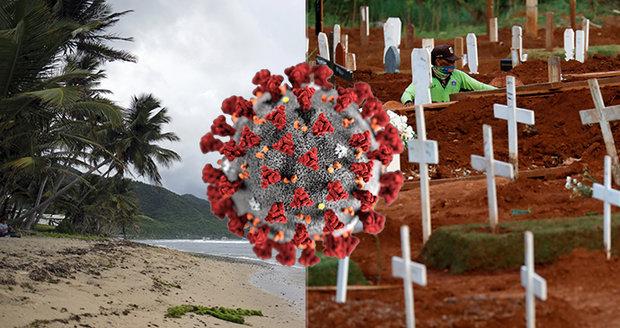 V exotickém ráji se kupí těla mrtvých. Pohřební služba nefunguje, zaměstnanci mají koronavirus