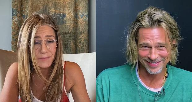 Jennifer a Brad se účastnili videohovoru pro dobrou věc