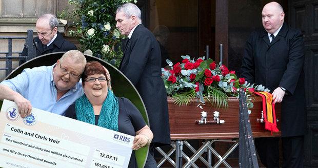 Výherce loterie euromiliony zemřel krátce po rozvodu: Neštěstí pronásleduje i další!