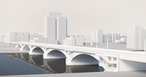 Takhle by podle vizualizací mohl vypadat rekonstruovaný Libeňský most.