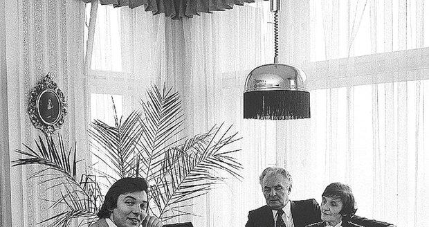 Karel Gott s rodiči.