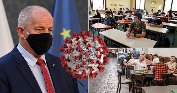 Nouzový stav v ČR: Střední školy zavřely v 10 regionech a v hospodách u stolu nejvýš 6 lidí