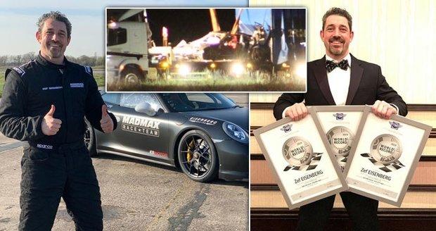 Tragická smrt milionáře při bouračce: Jezdil rychlostí přes 322 km/h!