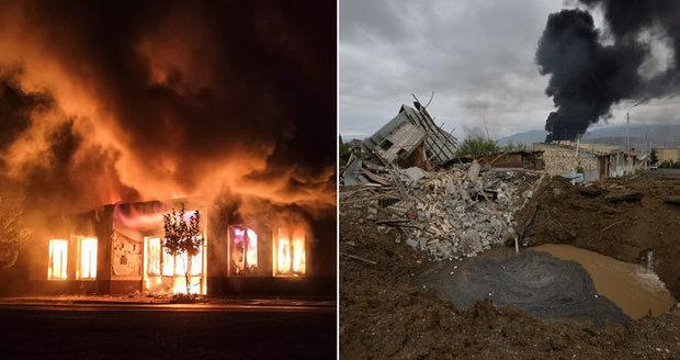 Sirény, rakety a rodiny v krytech. Válčení v Karabachu neutichá, už přes 240 mrtvých
