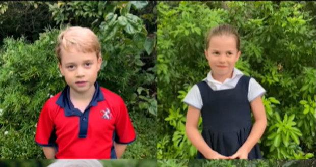 Princové George a Louis a princezna Charlotte ve videu se sirem Davidem Attenboroughem
