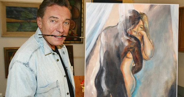 Obraz Karla Gotta v aukci netáhl... Mohlo za to příliš mnoho erotiky?!