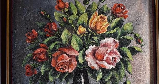 Obraz Zátiší s růžemi
