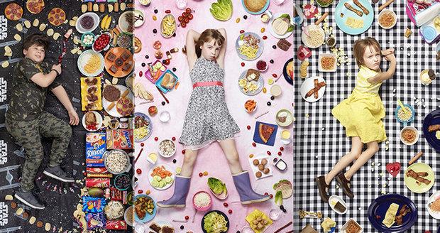 Americký fotograf Gregg Segal zachytil týdenní jídelníček dětí z celého světa.