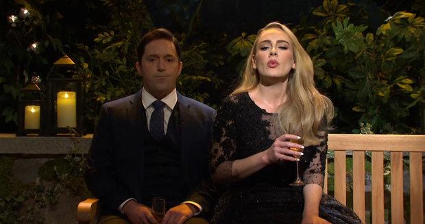 Zpěvačka Adele v shot Saturday Night Live