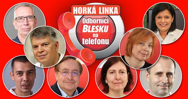 Už v úterý 3.11. budou zdarma odpovídat na dotazy volajících Odborníci na telefonu Blesku.