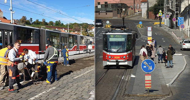 Zastávky na Malostranské mají širší ostrůvek: Vozovka se zúžila, přibyl cyklopruh. Natrvalo?
