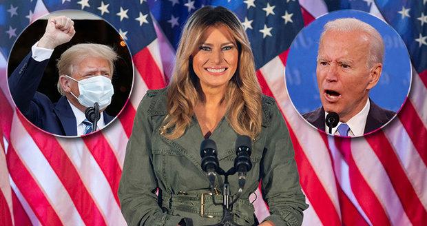 Melania vyrazila do kampaně bez manžela: Zmínila smrt, zničení Ameriky a Trumpa bojovníka