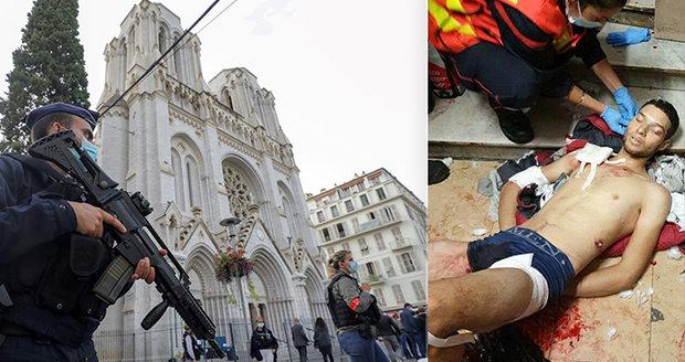 """Mladý Tunisan zakřičel """"Alláhu akbar"""" a začal řezat hlavy: První fotka zraněného útočníka"""