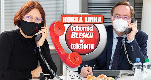 V redakci Blesku právě teď odpovídají odborníci na telefonu.